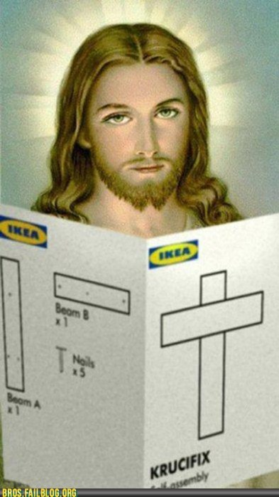 crucifix DIY ikea jesus - 6078900480
