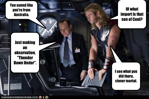 avengers chris hemsworth clever god I see what you did there thunder - 6078918912