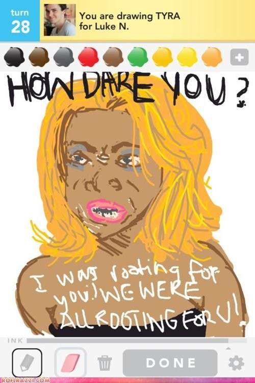 Americas Next Top Model,draw something,funny,game,Tyra Banks