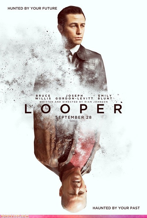 bruce willis first look Joseph Gordon-Levitt looper Movie poster - 6078952448
