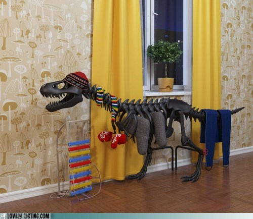dinosaur,heater,radiator,skeleton