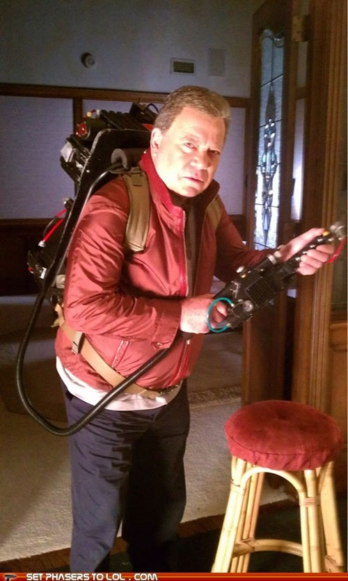 Ghostbusters proton pack rumor tweet William Shatner