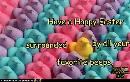 Have a Happy Easter surrounded by all your favorite peeps.
