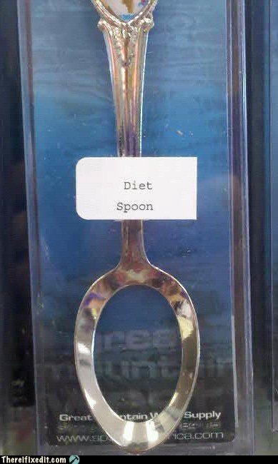 diet diet spoon g rated Hall of Fame silverware spoon there I fixed it - 6079152384