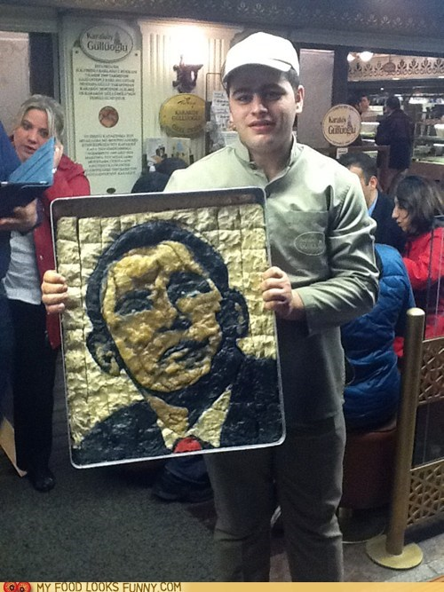 art,baklava,face,obama,pastries