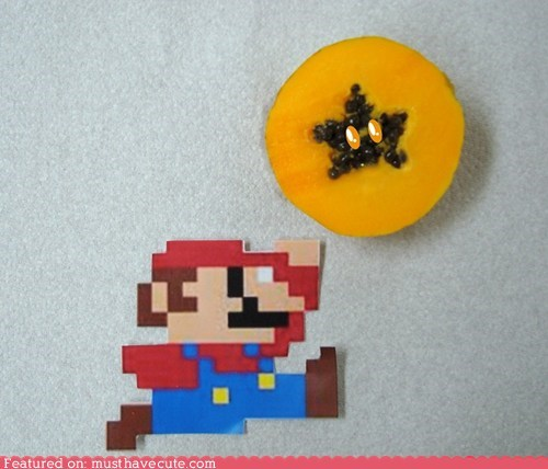 art mario papaya power up star