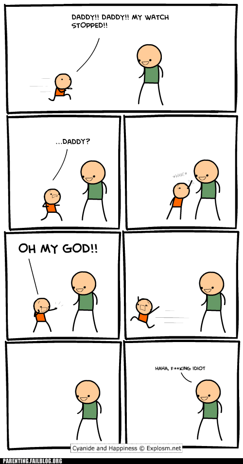 cyanide and happiness,trolldad
