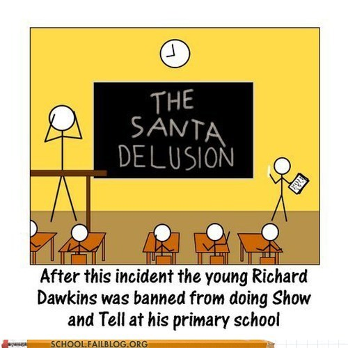 richard dawkins,show and tell,the santa delusion