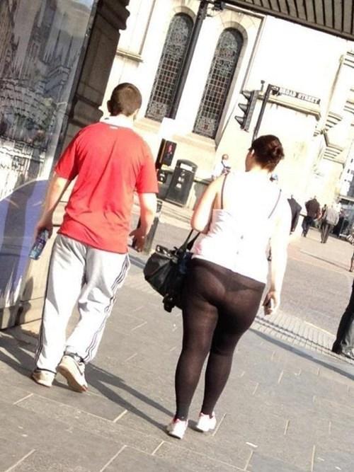 sheer underwear whoops yoga pants - 6081313536