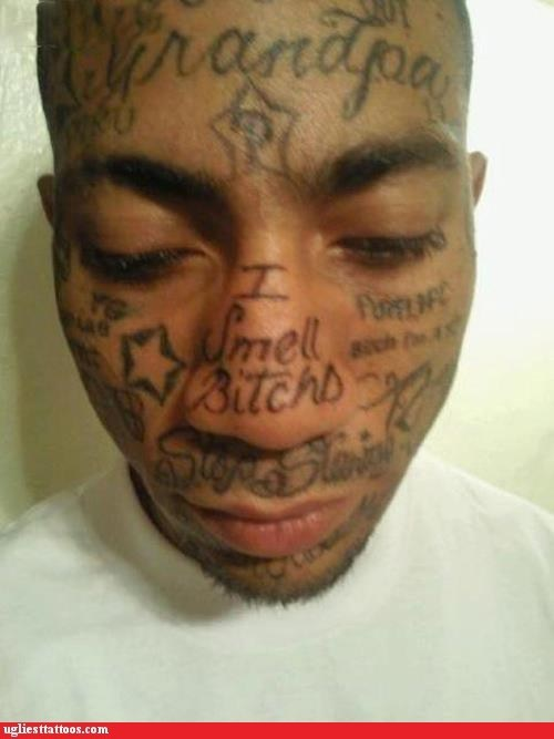 face tattoo Hall of Fame prison thug Ugliest Tattoos - 6081340928