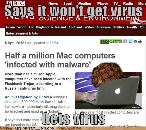 mac,scumbag hat,virus
