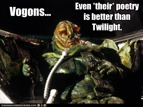 bbc best of the week better than Hitchhikers Guide To the Galaxy poetry tv series vogon poetry vogons - 6081822464