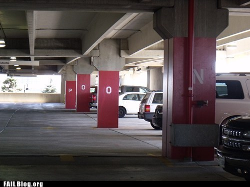 car labeling FAIL parking garage - 6081897984