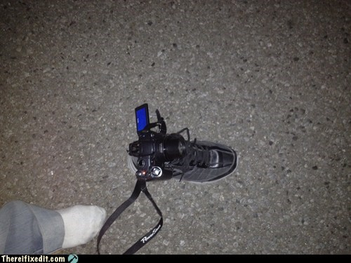boot camera canon digital camera DIY long exposure nikon shoe tripod