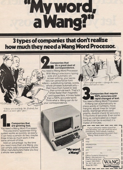 computer old school retro wang word processor