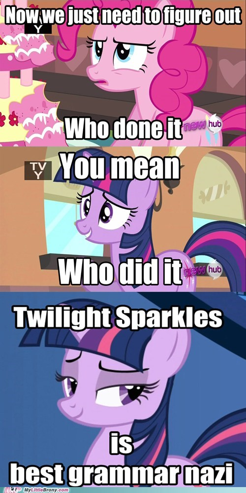 comics grammar nazi mmmystery twilight sparkle who done it - 6083255296