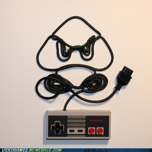 art,awesome,controller,goomba,NES,the internets