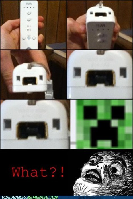 creeper,minecraft,the internets,wii,wiimote