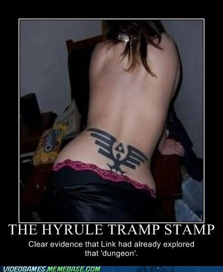 demotivational,hyrule,link,the internets,tramp stamp,zelda