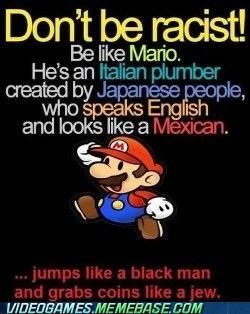 dats wacist,mario,racism,stereotypes