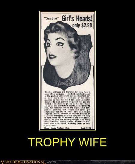 Sexy Ladies Terrifying trophy wtf wife - 6083464192