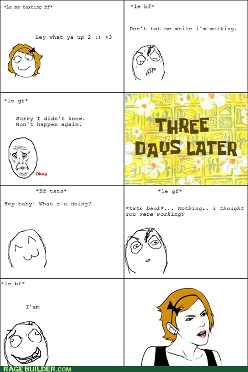 Okay Rage Comics relationships texting - 6083586816