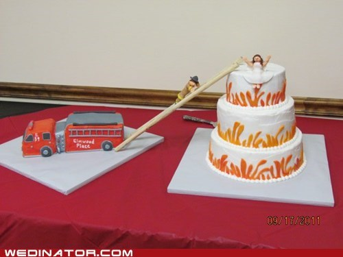 cake ladder firefighter truck rescue - 6083833344