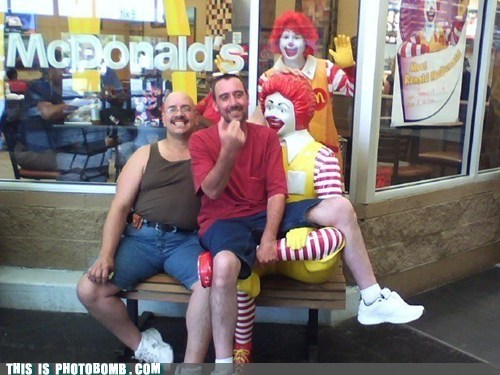 bench McDonald's Moment Of Win Ronald McDonald