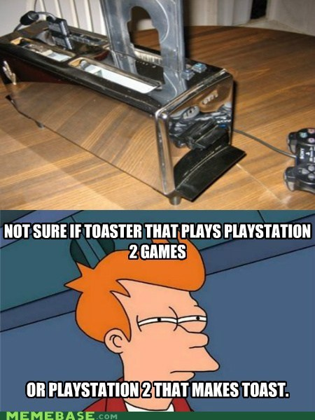 fry,games,playstation,toaster