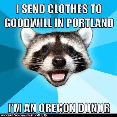 Lame Pun Coon oregon organ donor organs puns raccoons - 6086900224