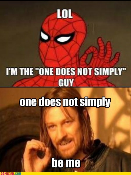 one does not simply walk,Spider-Man,the internets,web shooters