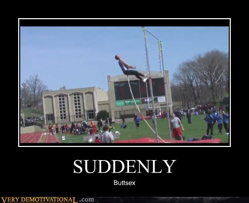 hilarious pole vault suddenly wtf