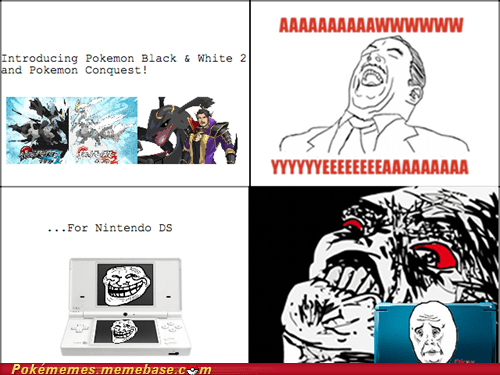 3DS black and white 2 ds pokemon conquest Rage Comics - 6087516416