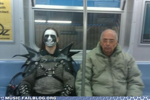 corpse paint,metal,old man,Subway