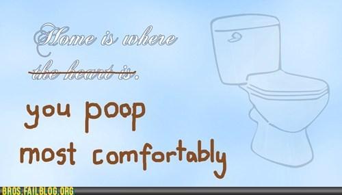 comfortable,home,poop
