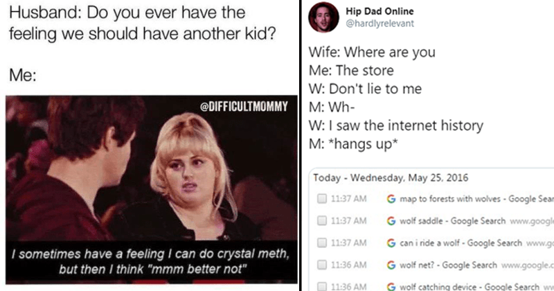 Funny marriage memes and tweets, pitch perfect.