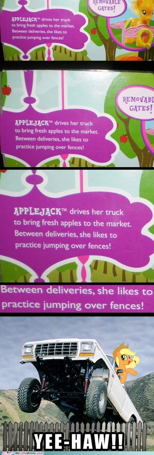 applejack,toys,truck,yeehaw