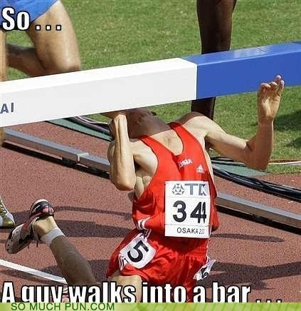 athlete bar double meaning FAIL Hall of Fame hurdle into literalism walks - 6089805568