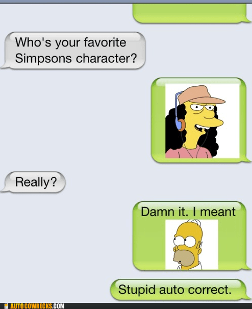 autocorrected homer Otto the simpsons - 6090249728