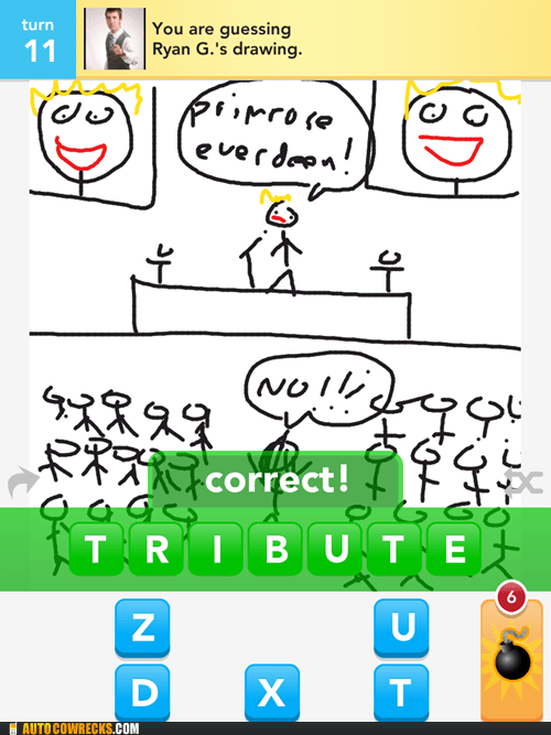 draw something katniss hunger games tribute - 6090366464