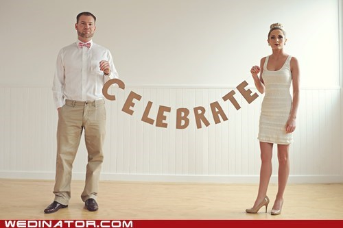 celebrate excited frown funny wedding photos happy smile unhappy