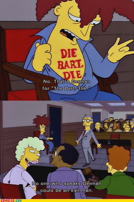 die german language simpsons TV