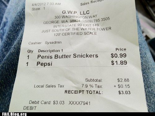 fail nation innuendo p33n receipt wtf - 6090830336