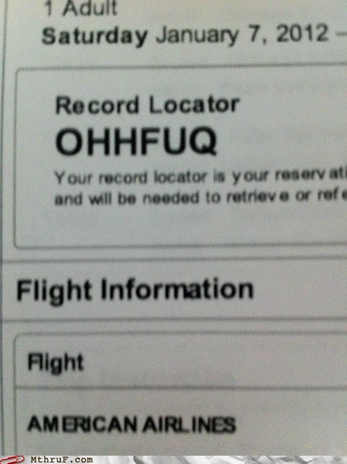 airline airport american airlines business trip flying ohhfuq record locator - 6090937856