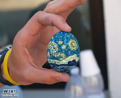 art decoration easter egg Van Gogh