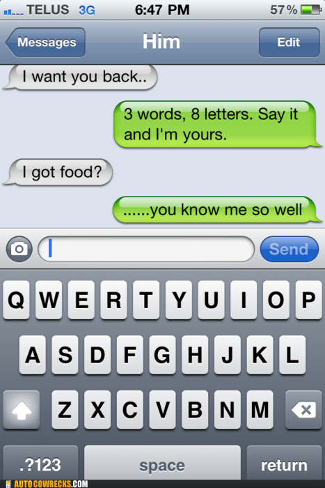 8 letters i got food iphone know you well pizza - 6090969344
