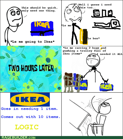 ikea Rage Comics shopping table flip - 6090971904