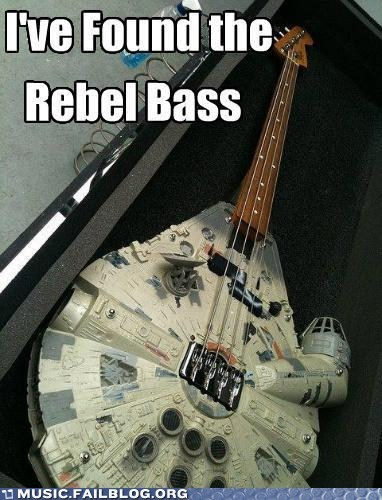 bass guitar millennium falcon pun star wars - 6090977280