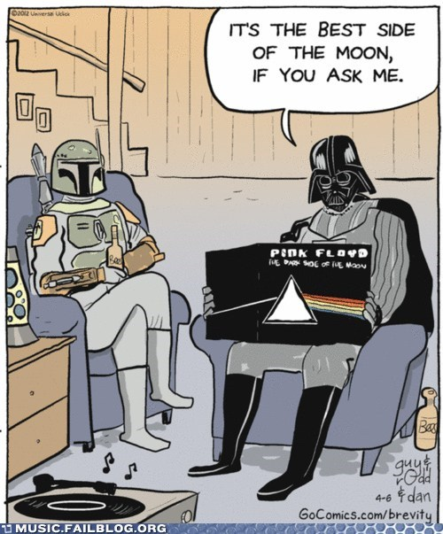 comic Dark Side of the Moon pink floyd star wars - 6091003392