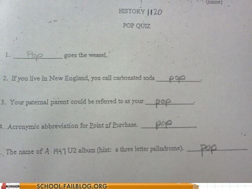 g rated,history,pop,pop quiz,School of FAIL
